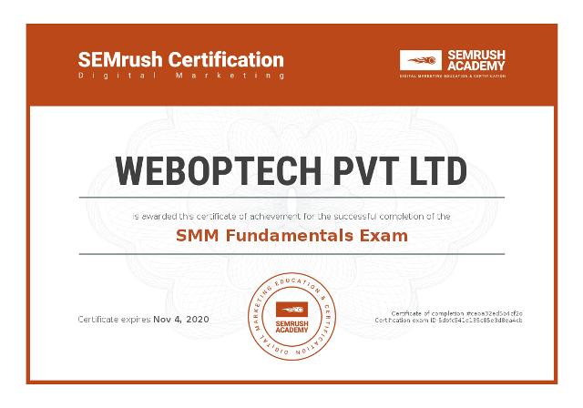 Certificate-smm-fundamentals-exam